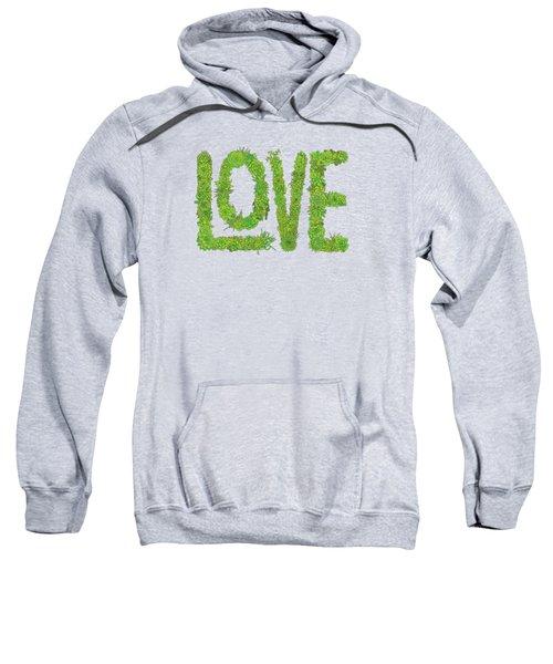 Love Succulent Dark Background Sweatshirt