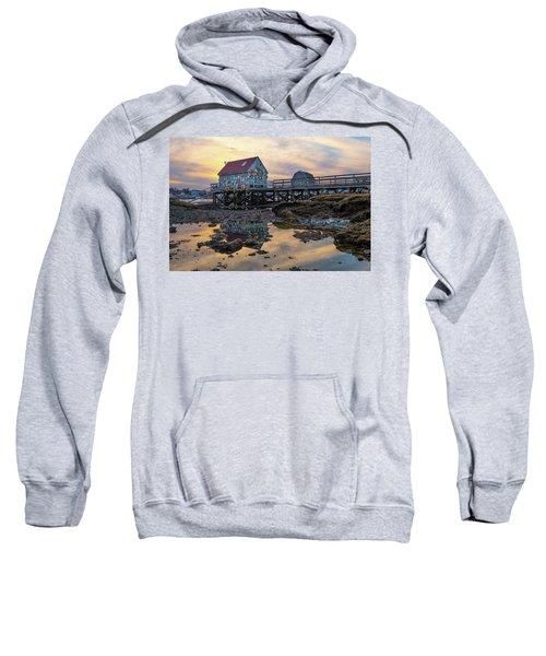 Low Tide Reflections, Badgers Island.  Sweatshirt