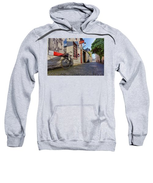 Lux Cobblestone Road Brugge Belgium Sweatshirt