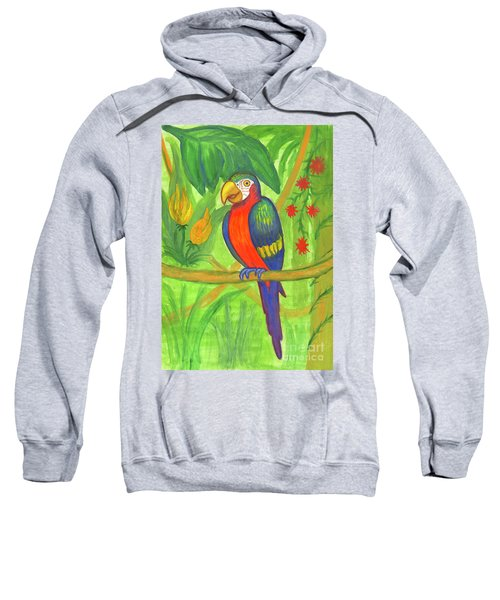 Macaw Parrot In The Wild Sweatshirt