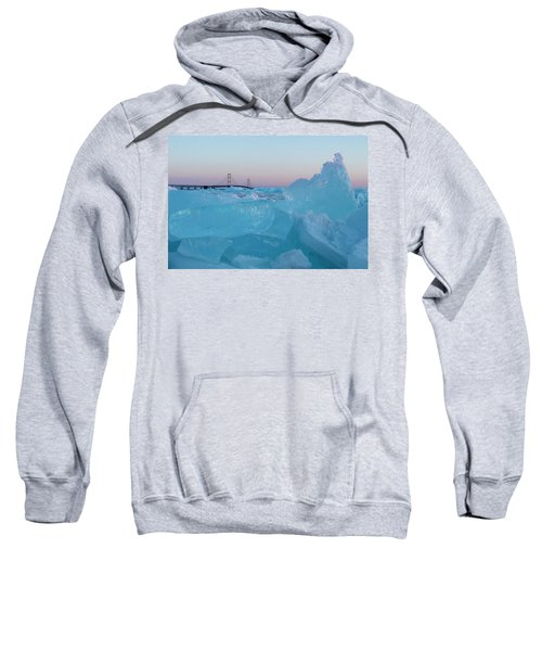 Mackinac Bridge In Ice 2161805 Sweatshirt