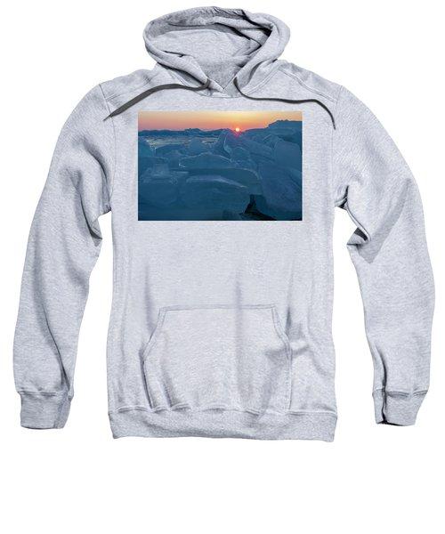 Mackinaw City Ice Formations 21618013 Sweatshirt