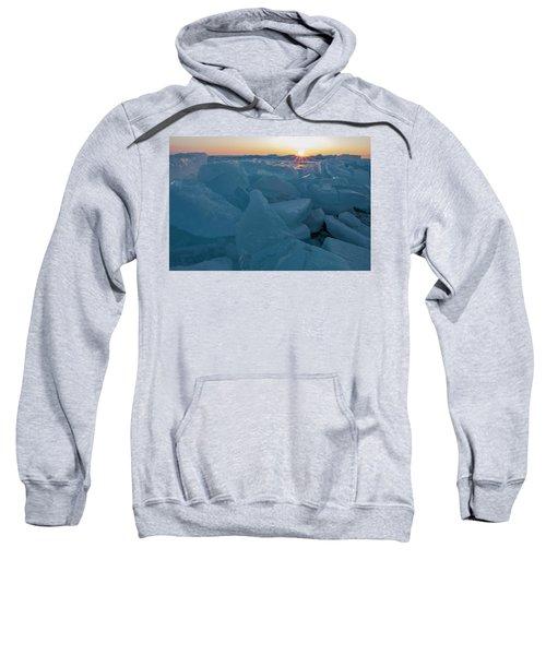 Mackinaw City Ice Formations 21618014 Sweatshirt