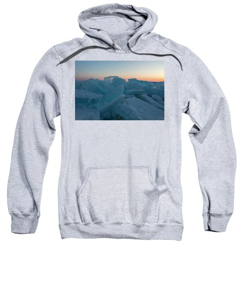 Mackinaw City Ice Formations 2161808 Sweatshirt