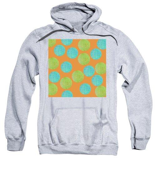 Malaysian Batik Polka Dot Print Sweatshirt
