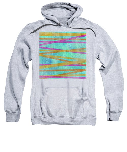 Malaysian Tropical Batik Strip Print Sweatshirt