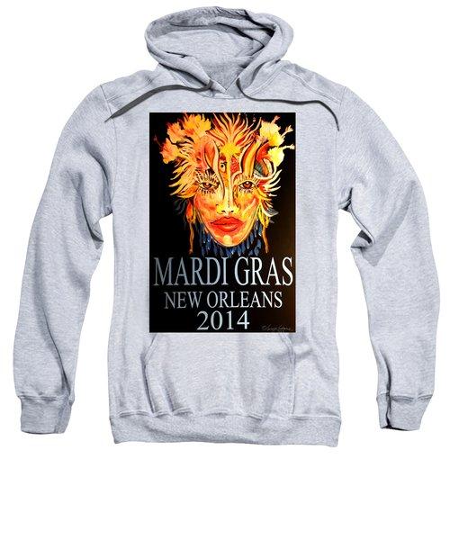 Mardi Gras Lady Sweatshirt