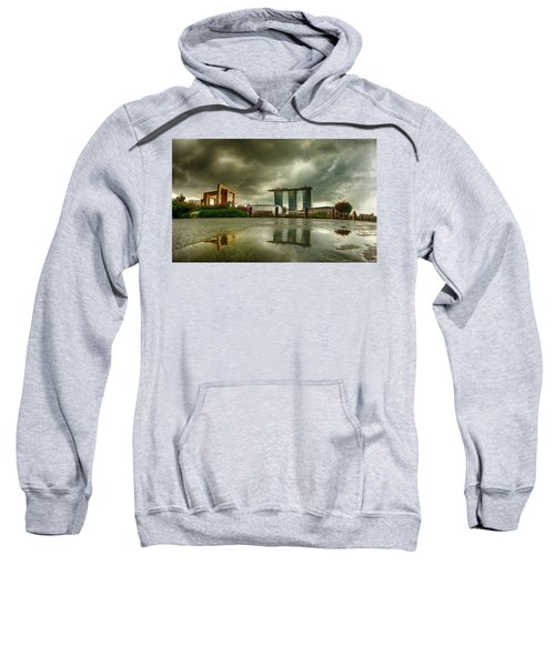 Sweatshirt featuring the photograph Marina Bay Sands Hotel by Chris Cousins