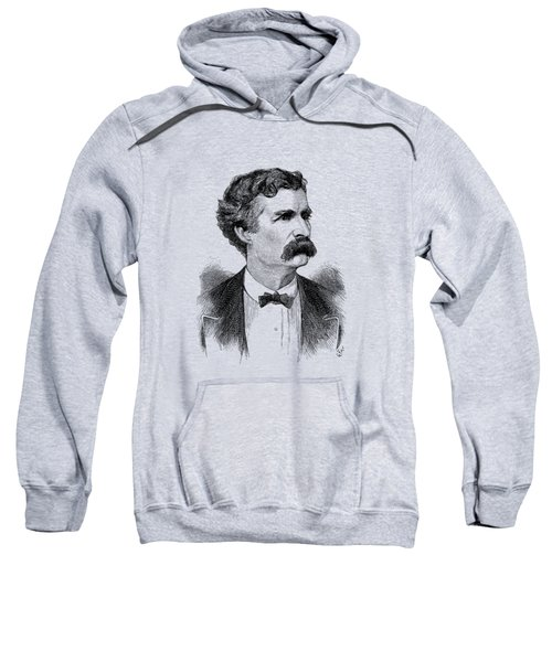 Mark Twain Engraved Portrait - 1870 Sweatshirt