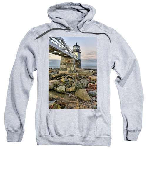 Marshall Point Light From The Rocks Sweatshirt
