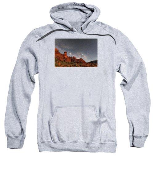 Milky Way Over Fisher Towers Sweatshirt