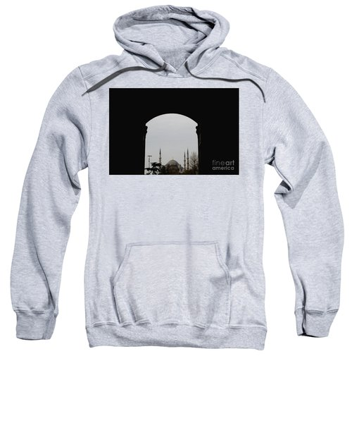 minarets in the city for the prayer of the Muslim religion Sweatshirt