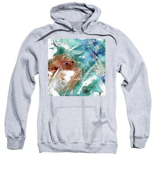 Modern Abstract Art - Perfect Timing - Sharon Cummings Sweatshirt