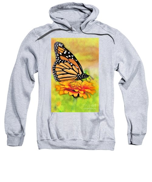 Monarch Butterfly On Flower Sweatshirt