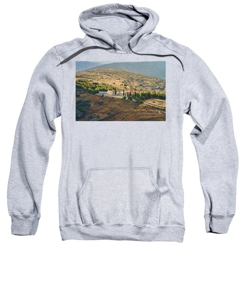 Monastery Agion Anargiron Above Argos Sweatshirt