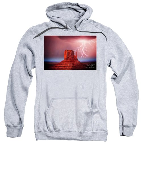 Sweatshirt featuring the photograph Monsoon Storm by Scott Kemper