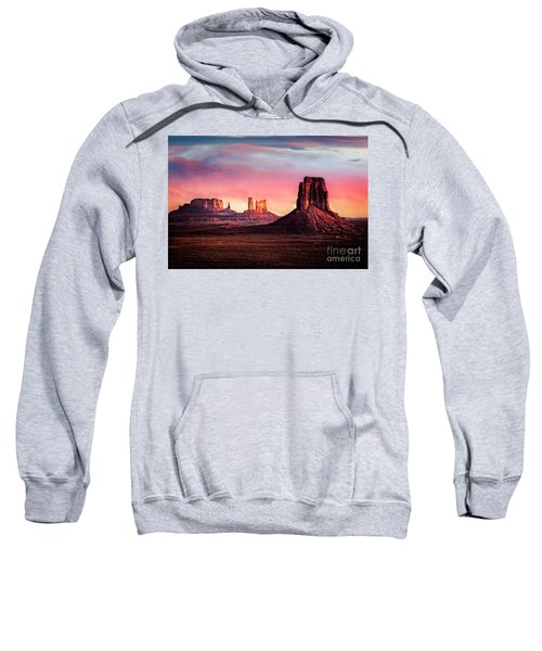 Sweatshirt featuring the photograph Monument Valley Sunrise by Scott Kemper