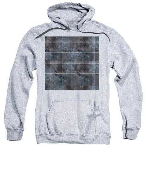 Moody Blue Plaid Sweatshirt
