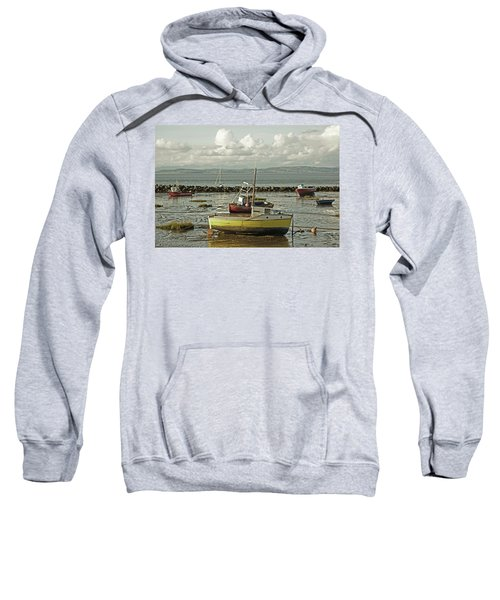 Morecambe. Boats On The Shore. Sweatshirt