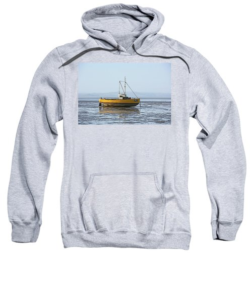Morecambe. Yellow Fishing Boat. Sweatshirt