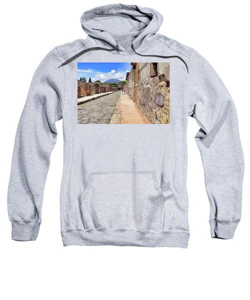 Mount Vesuvius And The Ruins Of Pompeii Italy Sweatshirt