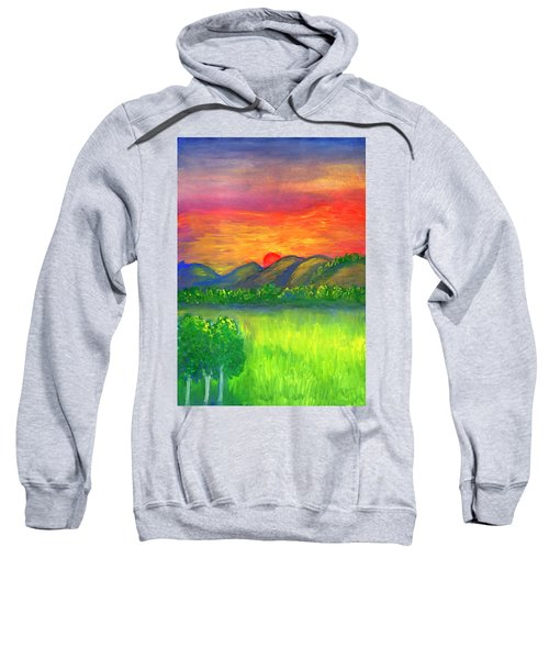 Mystical Red Sunset Sweatshirt