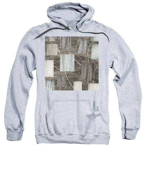 Neutral Leaf Print Squares Cream Sweatshirt