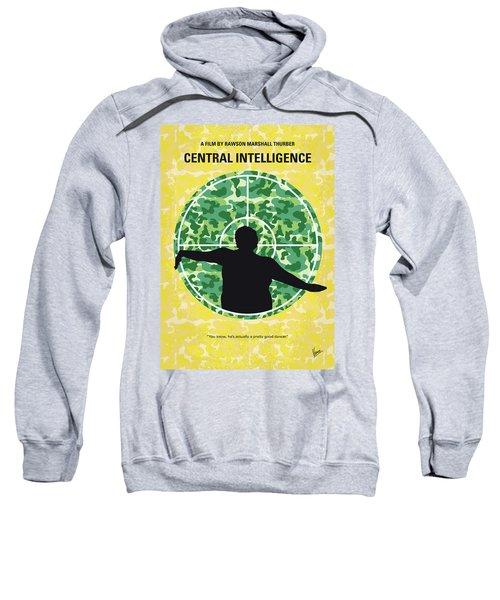 No1049 My Central Intelligence Minimal Movie Poster Sweatshirt