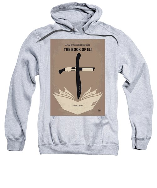 No978 My The Book Of Eli Minimal Movie Poster Sweatshirt