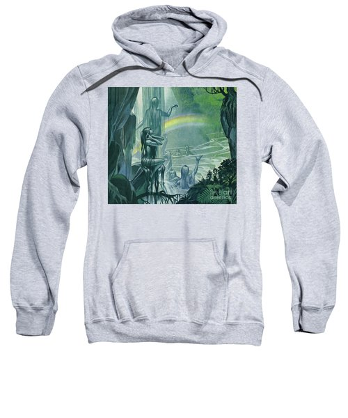 Nymphs And Rainbow Sweatshirt