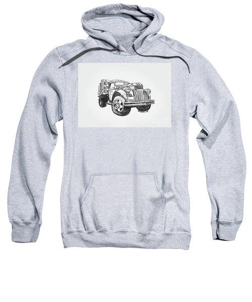 Old Farm Truck - Graphite Pencil Sweatshirt