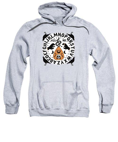 Orange And Black Modern Ouija Board With Ravens Sweatshirt