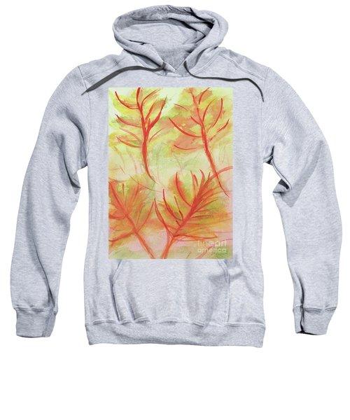 Orange Fanciful Leaves Sweatshirt