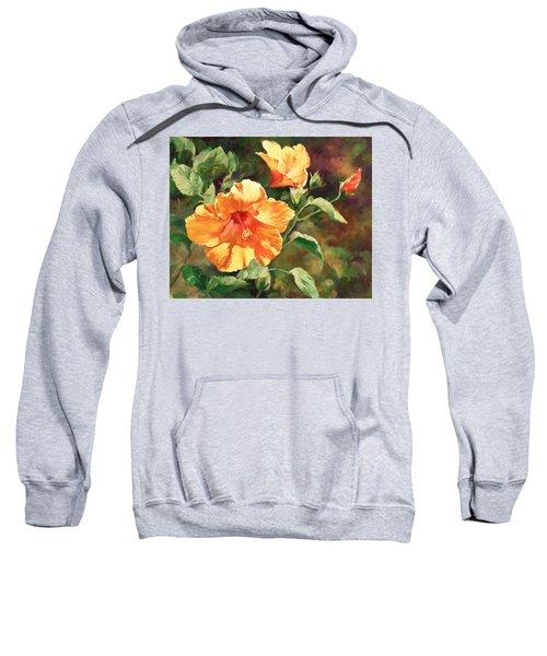 Orange Hibiscus Sweatshirt