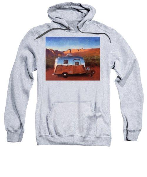 Orange Light On Red Rocks Sweatshirt