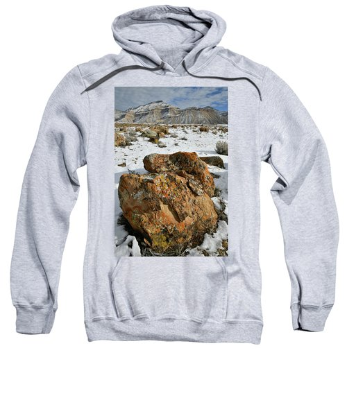 Ornate Colorful Boulders In The Book Cliffs Sweatshirt