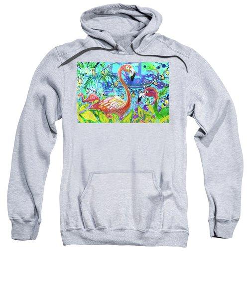 Outdoor Flamingo Party Sweatshirt