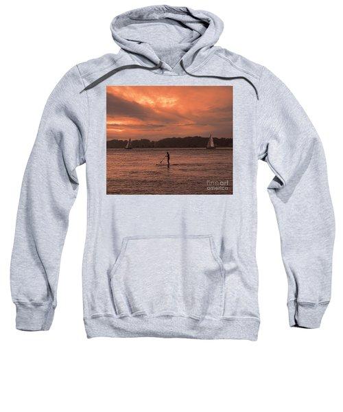 Paddleboarding On The Great Peconic Bay Sweatshirt