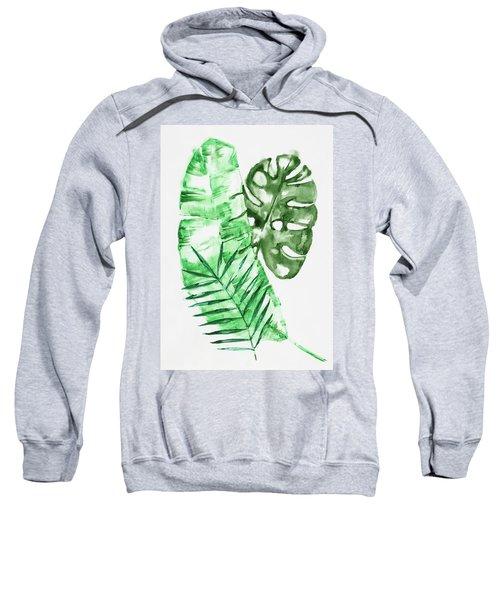Palm Leaves-banana, Coconut, Monstera Sweatshirt