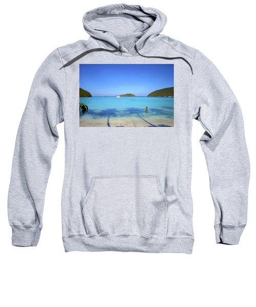Palm Shadows On The Atlantic Sweatshirt