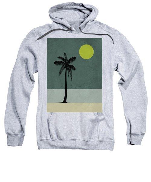 Palm Tree And Yellow Moon Sweatshirt