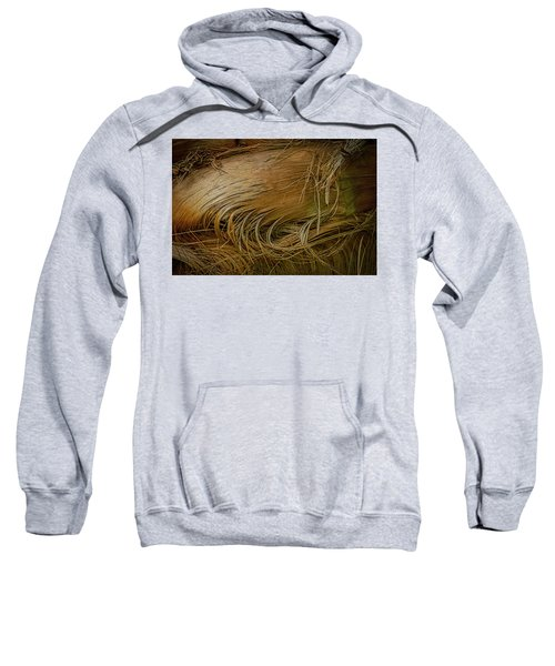 Palm Tree Straw Sweatshirt