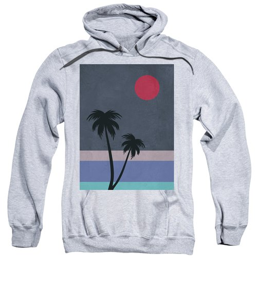 Palm Trees And Red Moon Sweatshirt