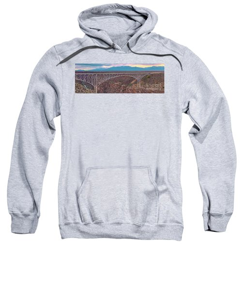 Panorama Of The Rio Grande Del Norte Gorge Bridge And Sangre De Cristo Mountains - Taos New Mexico Sweatshirt