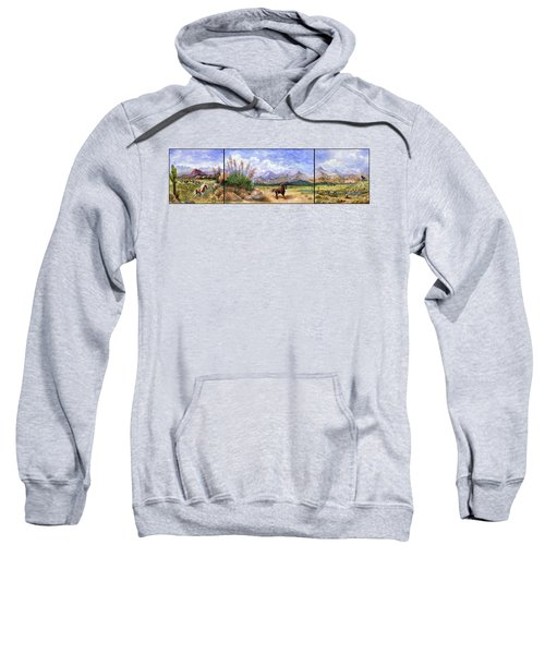 Panorama Triptych Don't Fence Me In  Sweatshirt
