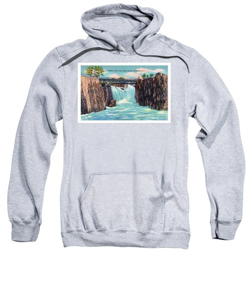 Passaic Falls And Chasm Bridge Paterson N J  Sweatshirt