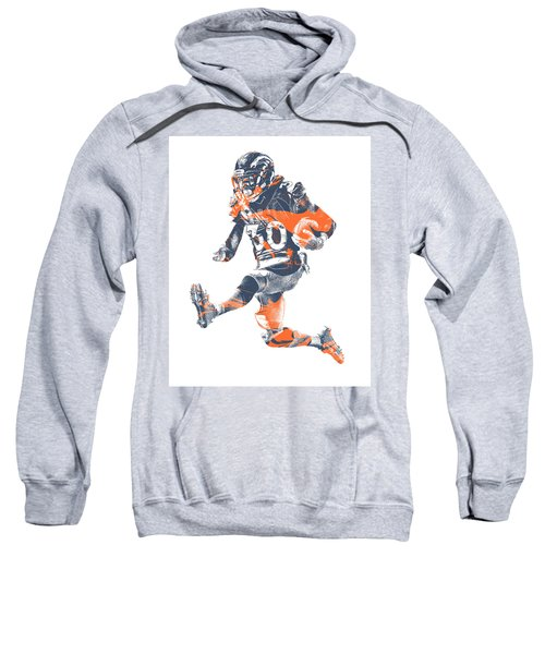 Phillip Lindsay Denver Broncos Pixel Art 2 Sweatshirt