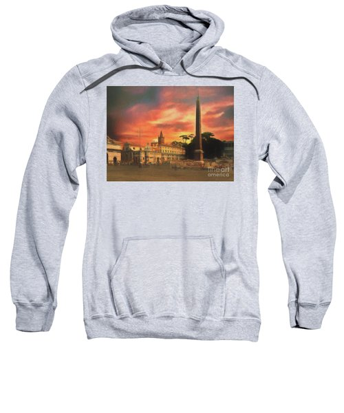 Piazza Del Popolo Rome Sweatshirt