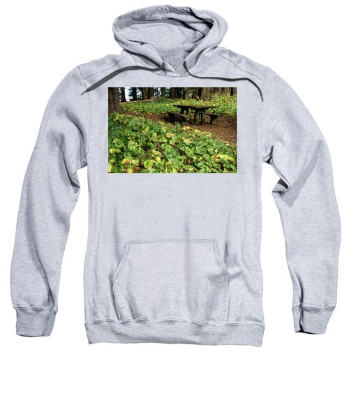 Picnic  Table In The Forest  Sweatshirt