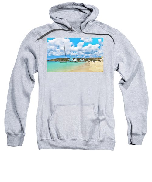 Picture Perfect Day For Sailing In Anguilla Sweatshirt